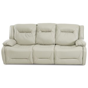 Casual Faux Leather Power Motion Reclining Sofa with USB Charging Port