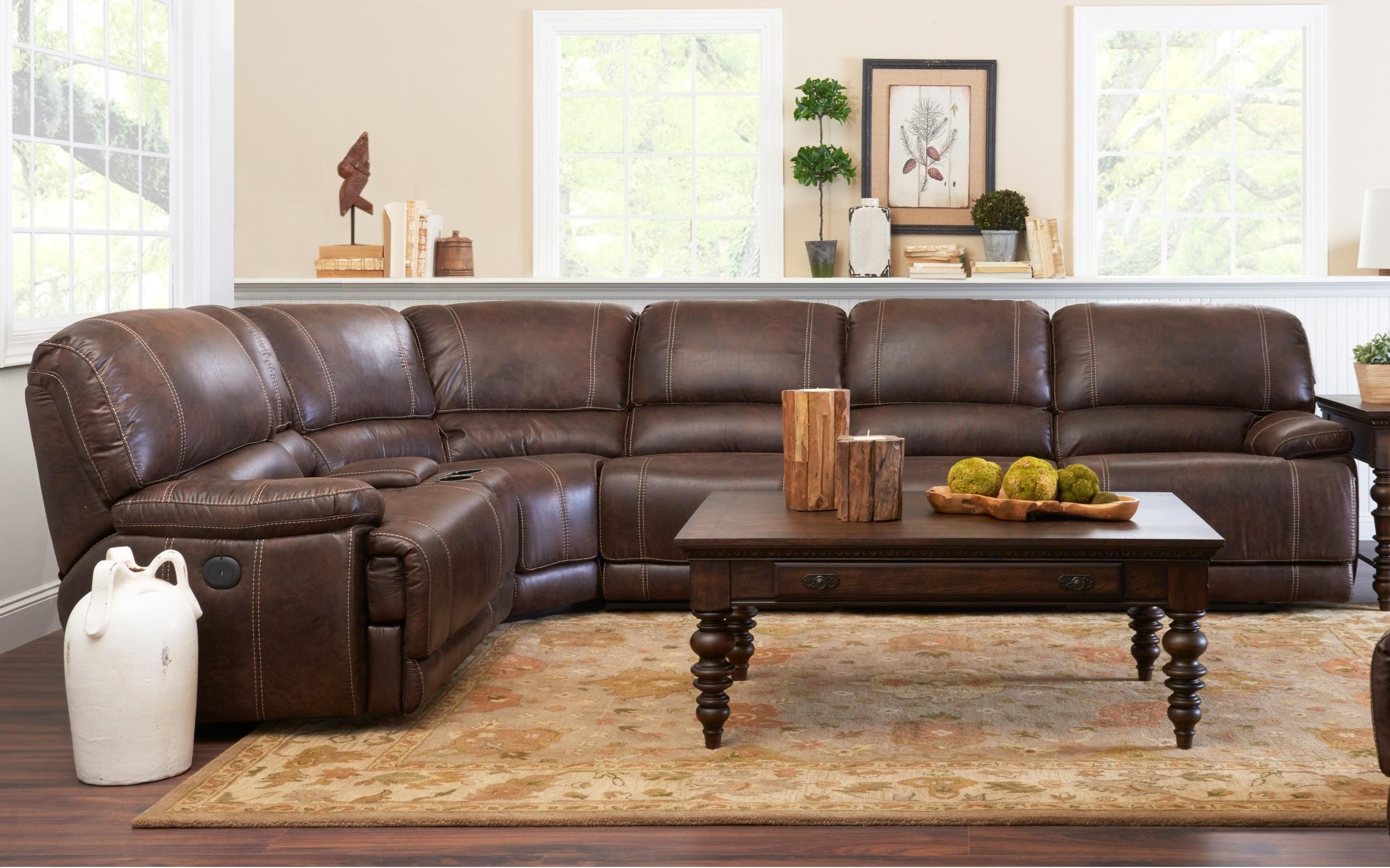 Foster 4 Seat Pwr Reclining Sectional Sofa by Klaussner International at Northeast Factory Direct