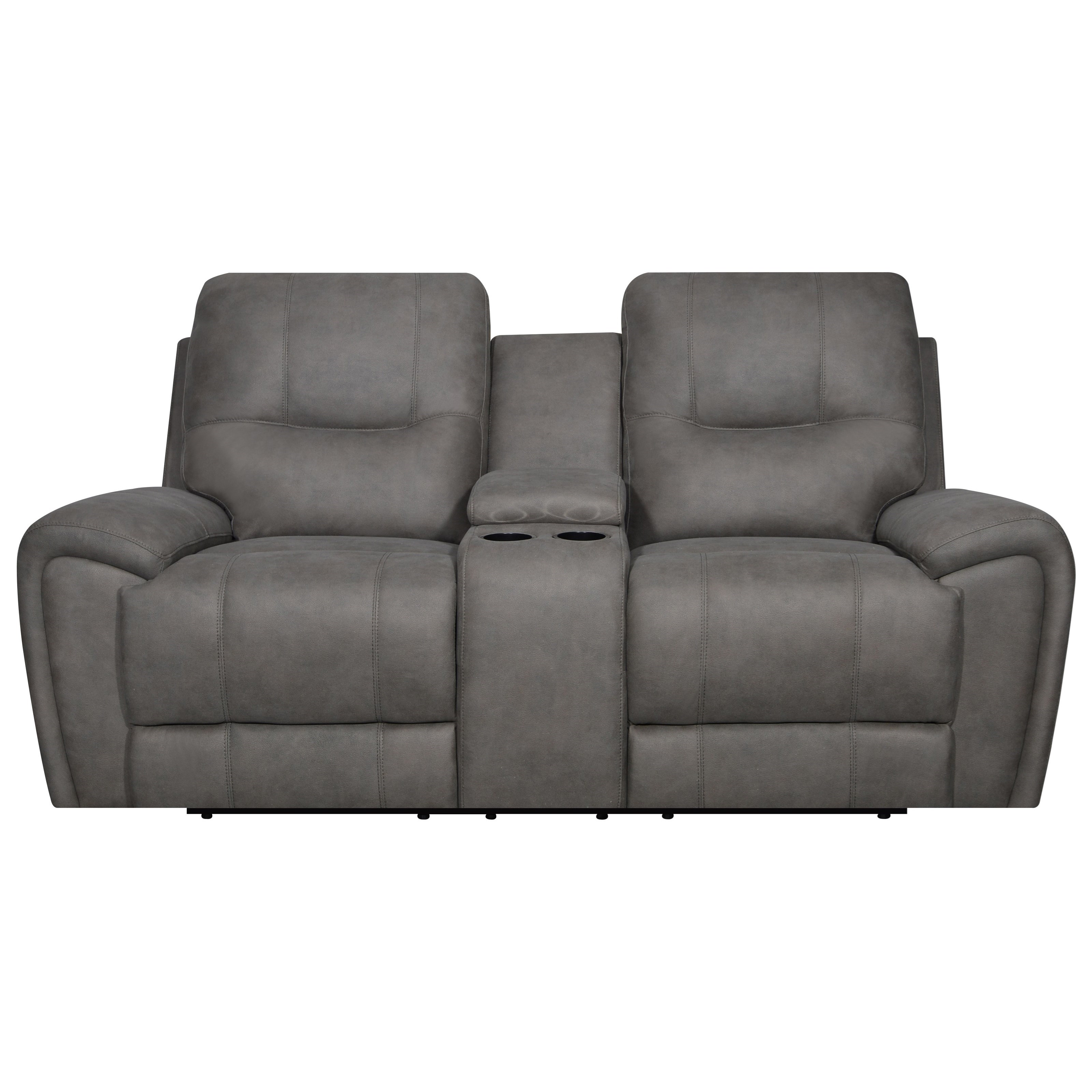 Gavin Power Console Reclining Loveseat by Klaussner International at Northeast Factory Direct