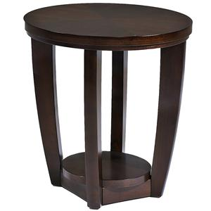 Round End Table With 1 Shelf