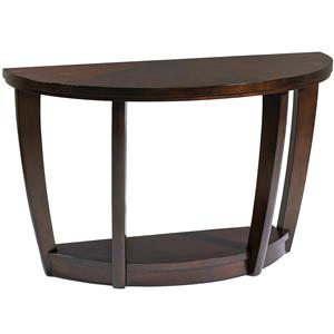 Demilune Sofa Table With 1 Shelf