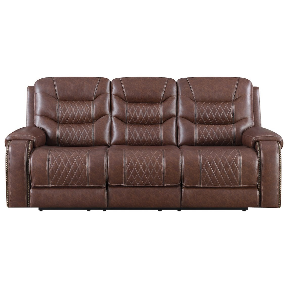 Hubble Power Reclining Sofa w/ Pwr Headrests by Klaussner International at Northeast Factory Direct