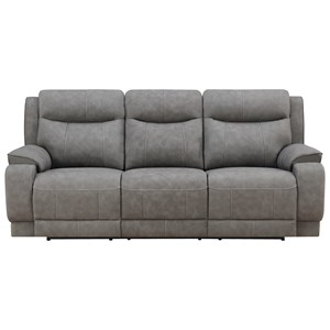 Power Reclining Sofa with Power Tilt Headrests and USB Ports