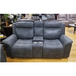 Power Reclining Console Loveseat with Adjustable Power Headrest and Lumbar Supports