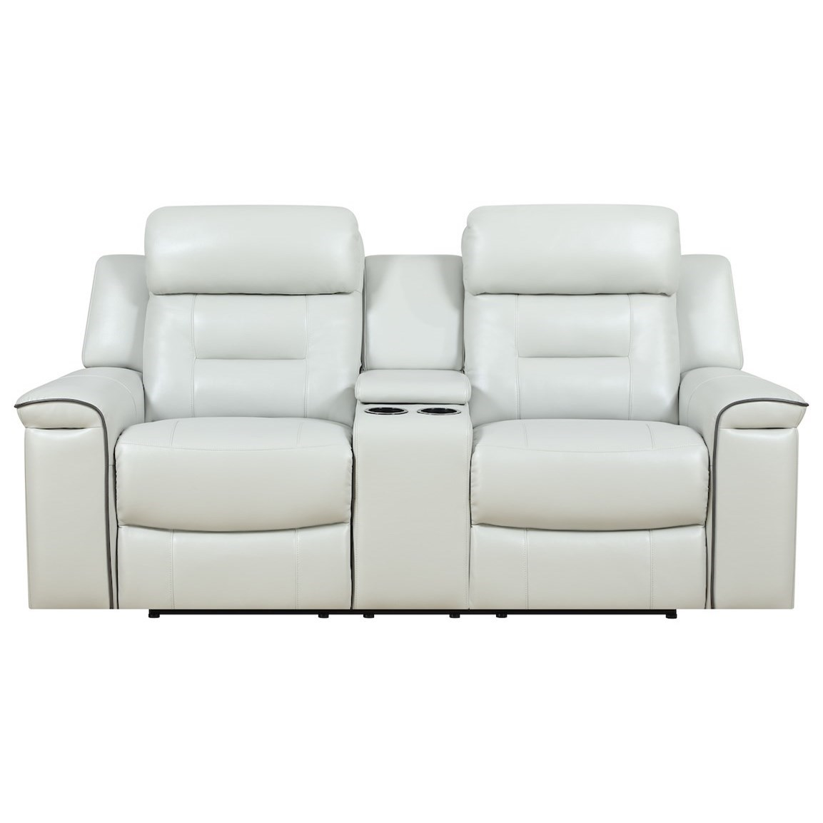 Islander Console Reclining Loveseat by Klaussner International at Northeast Factory Direct