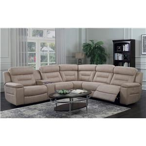 5PC Power Reclining Sectional w/ Storage Console