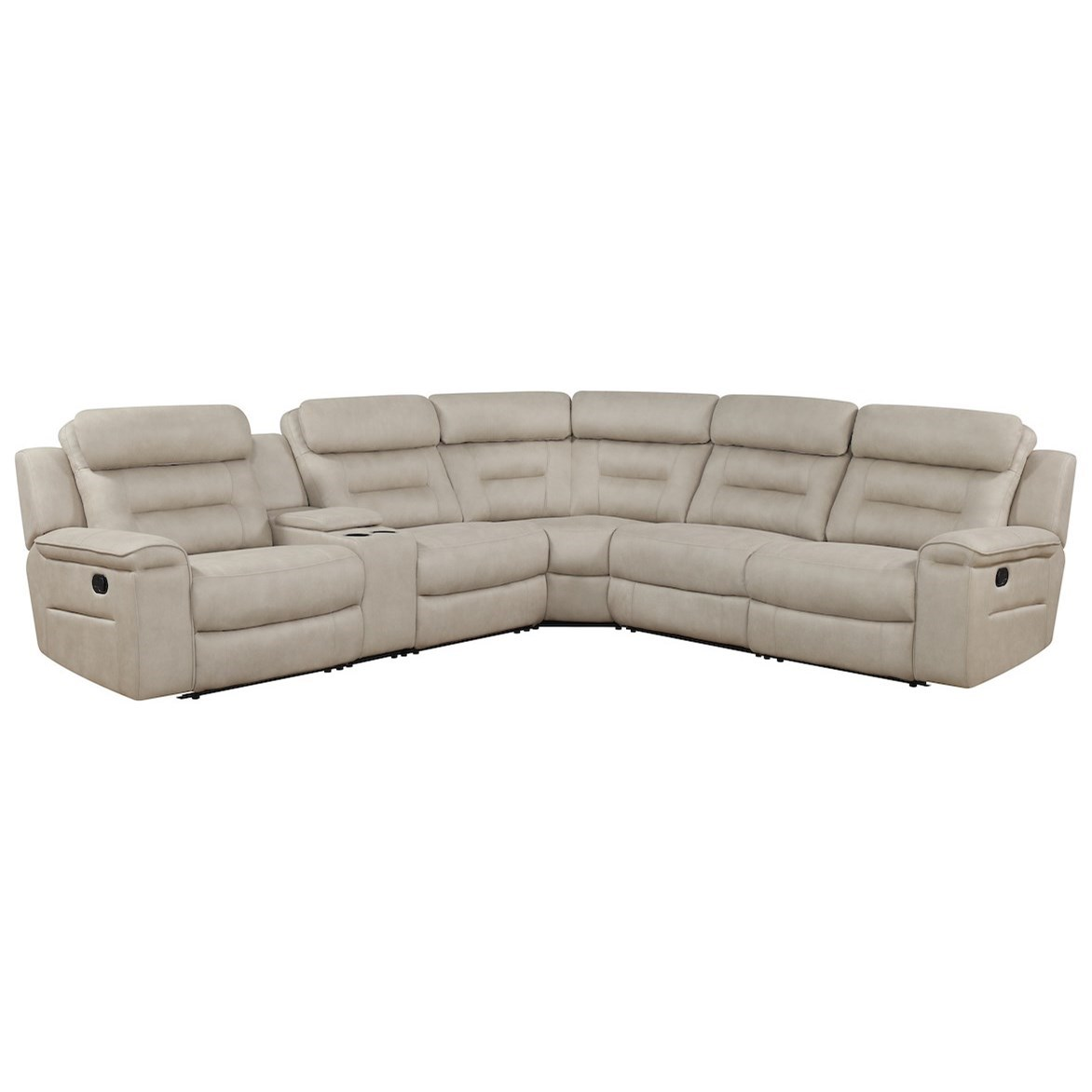Islander 4-Seat Pwr Reclining Sectional w/ Pwr Head by Klaussner International at Northeast Factory Direct