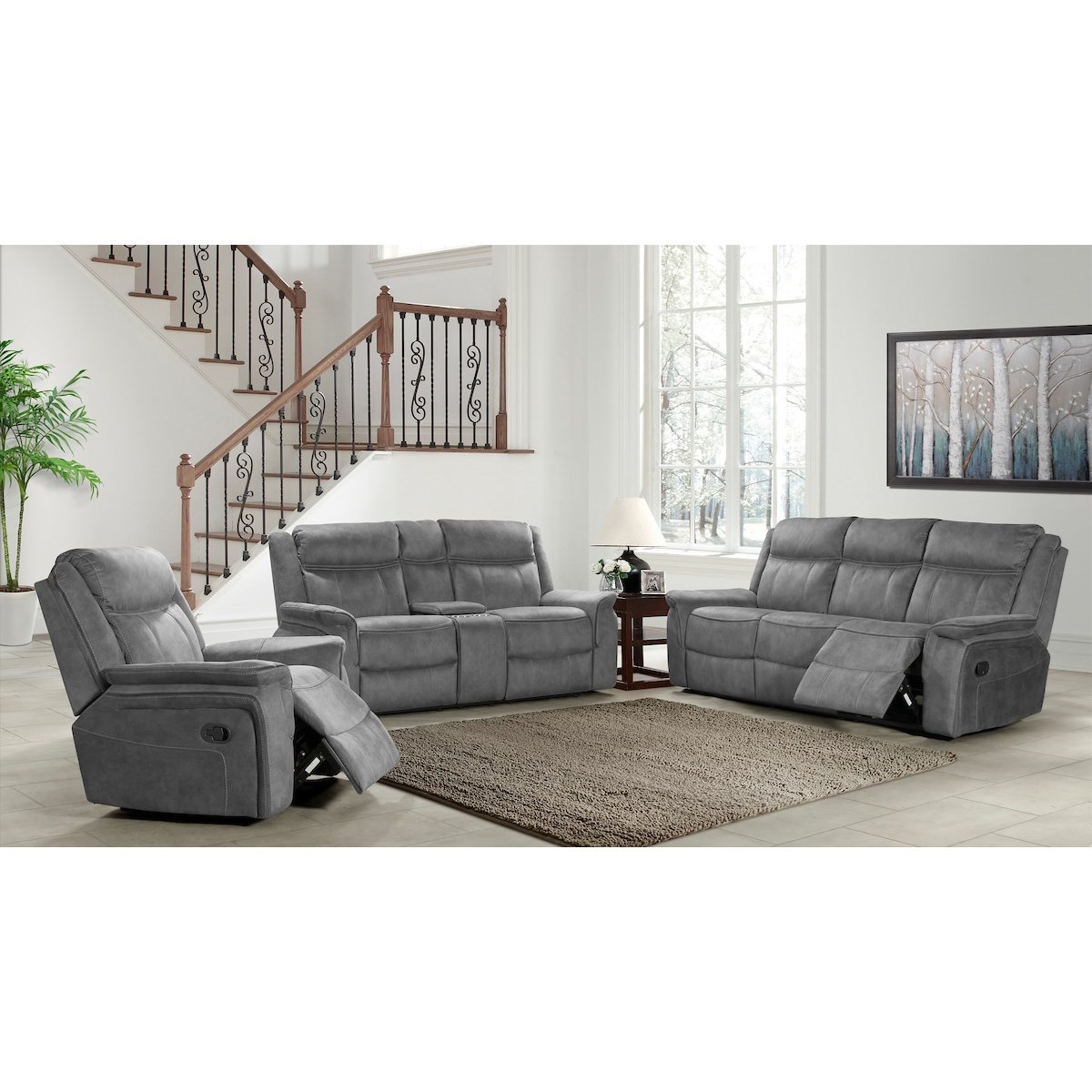 Kisner-US Reclining Living Room Group by Klaussner International at Northeast Factory Direct