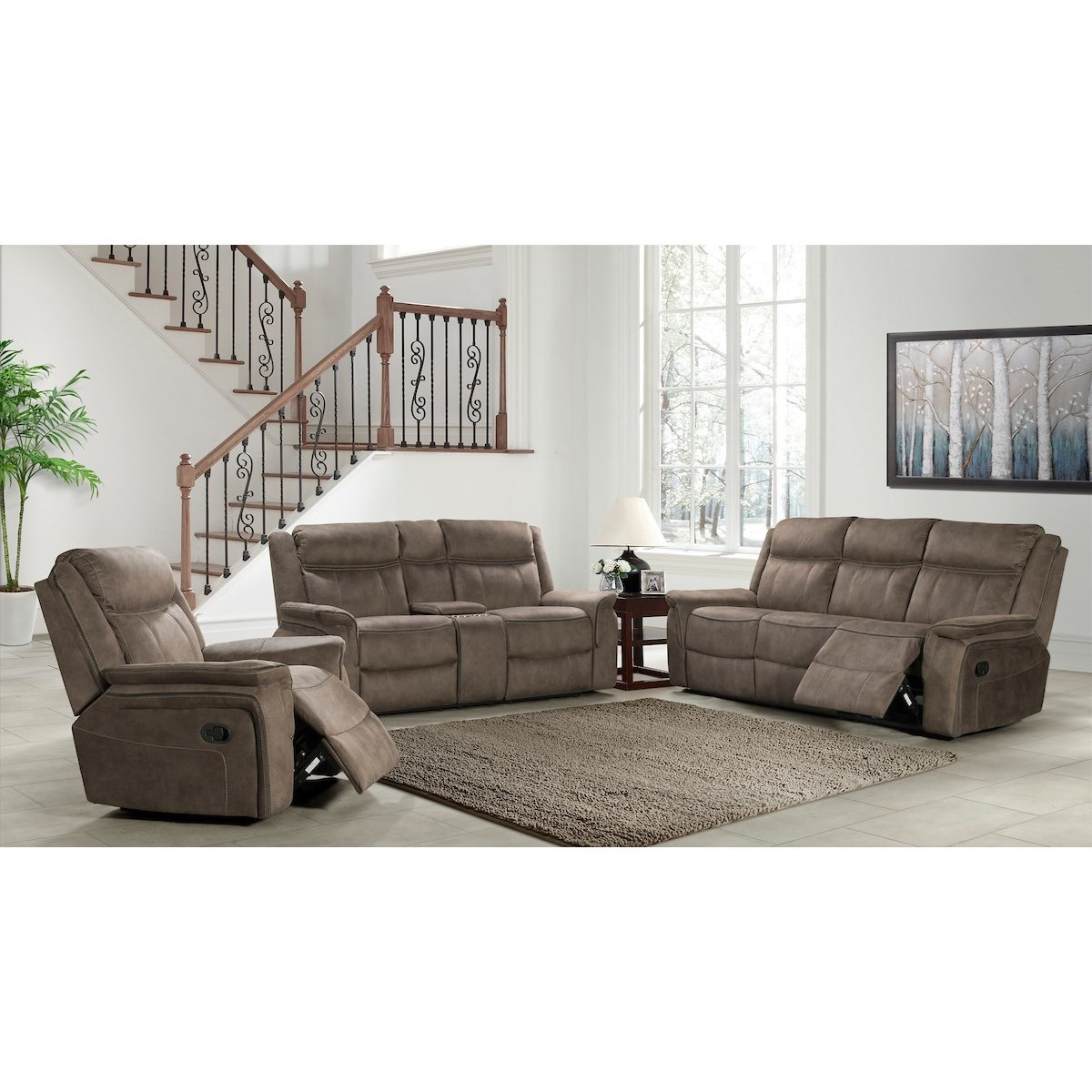 Kisner Reclining Living Room Group by Klaussner International at Northeast Factory Direct