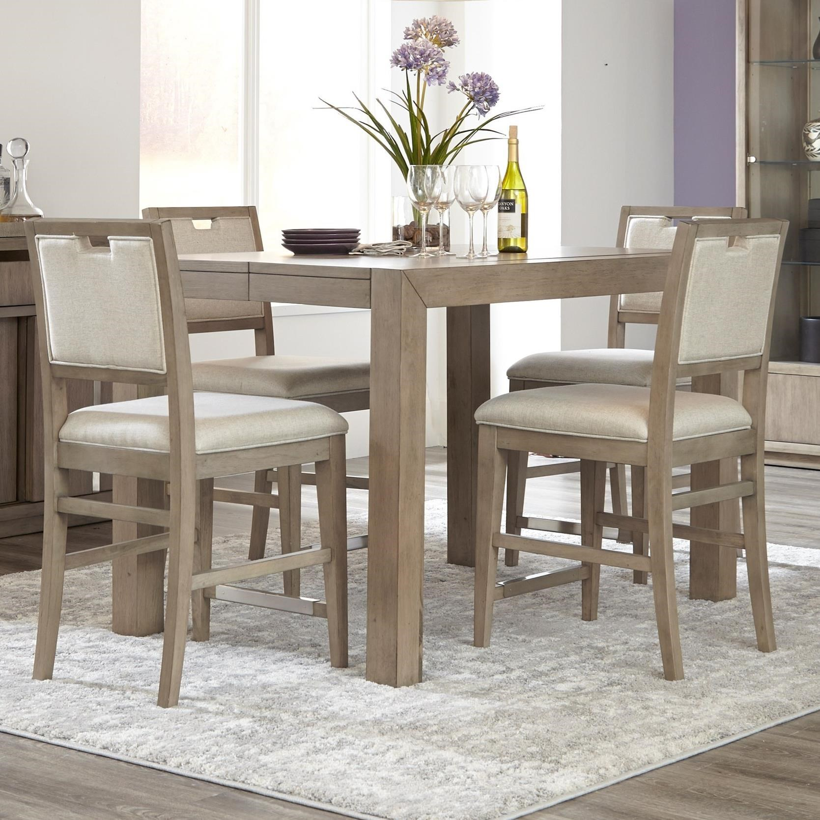 Melbourne 5 Piece Dining Package by Klaussner International at HomeWorld Furniture