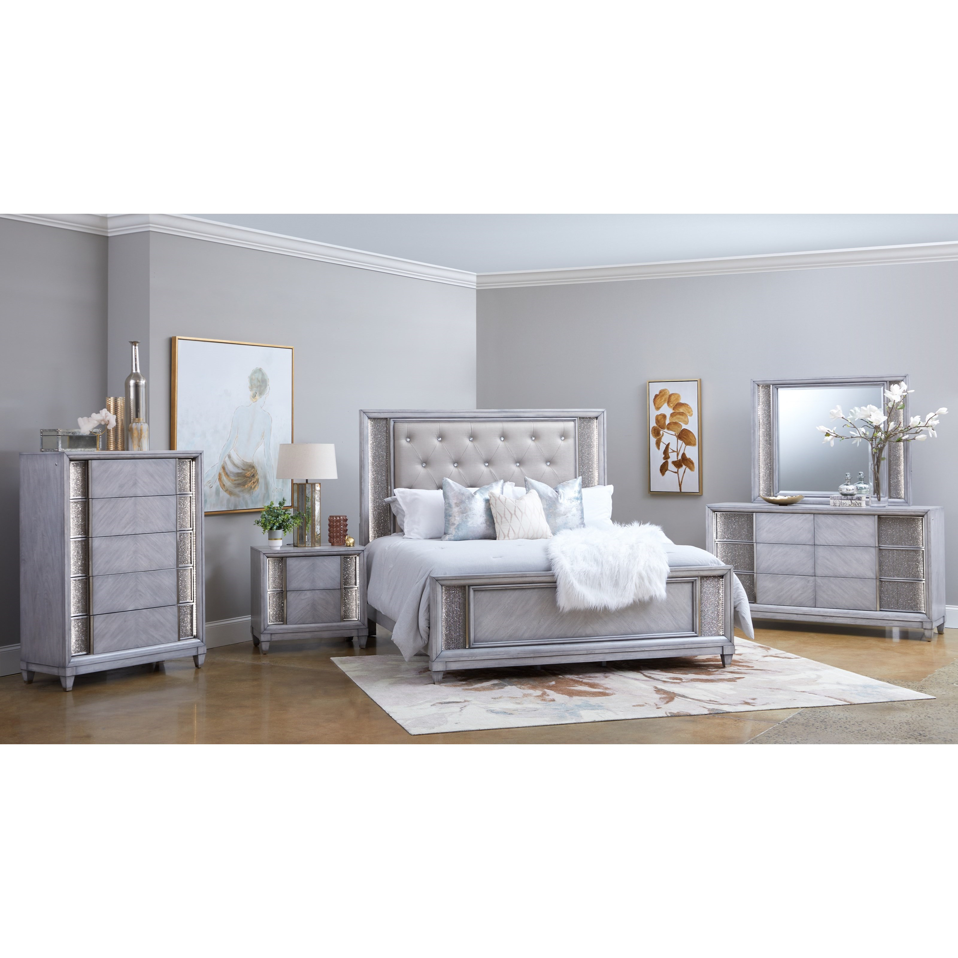 Navara Queen Bedroom Group by Klaussner International at Northeast Factory Direct