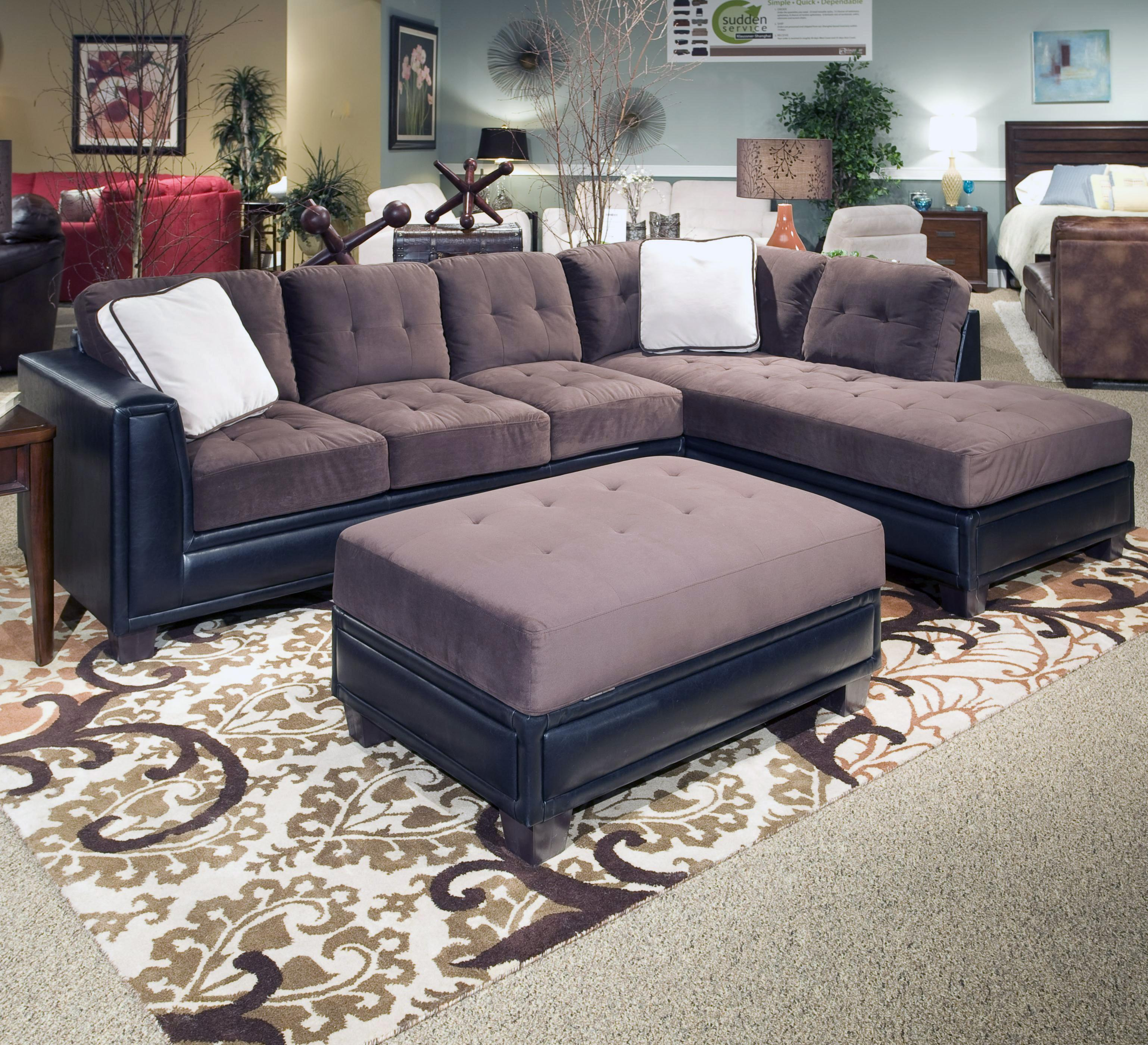 Norwich 3 Piece Sectional and Ottoman Group by Klaussner International at Northeast Factory Direct