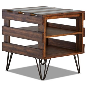 Industrial End Table with Hairpin Legs