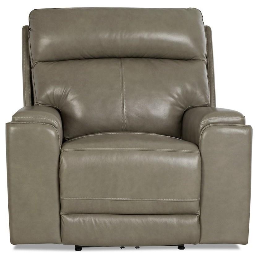 Santana Power Recliner with Power Headrest by Klaussner International at HomeWorld Furniture