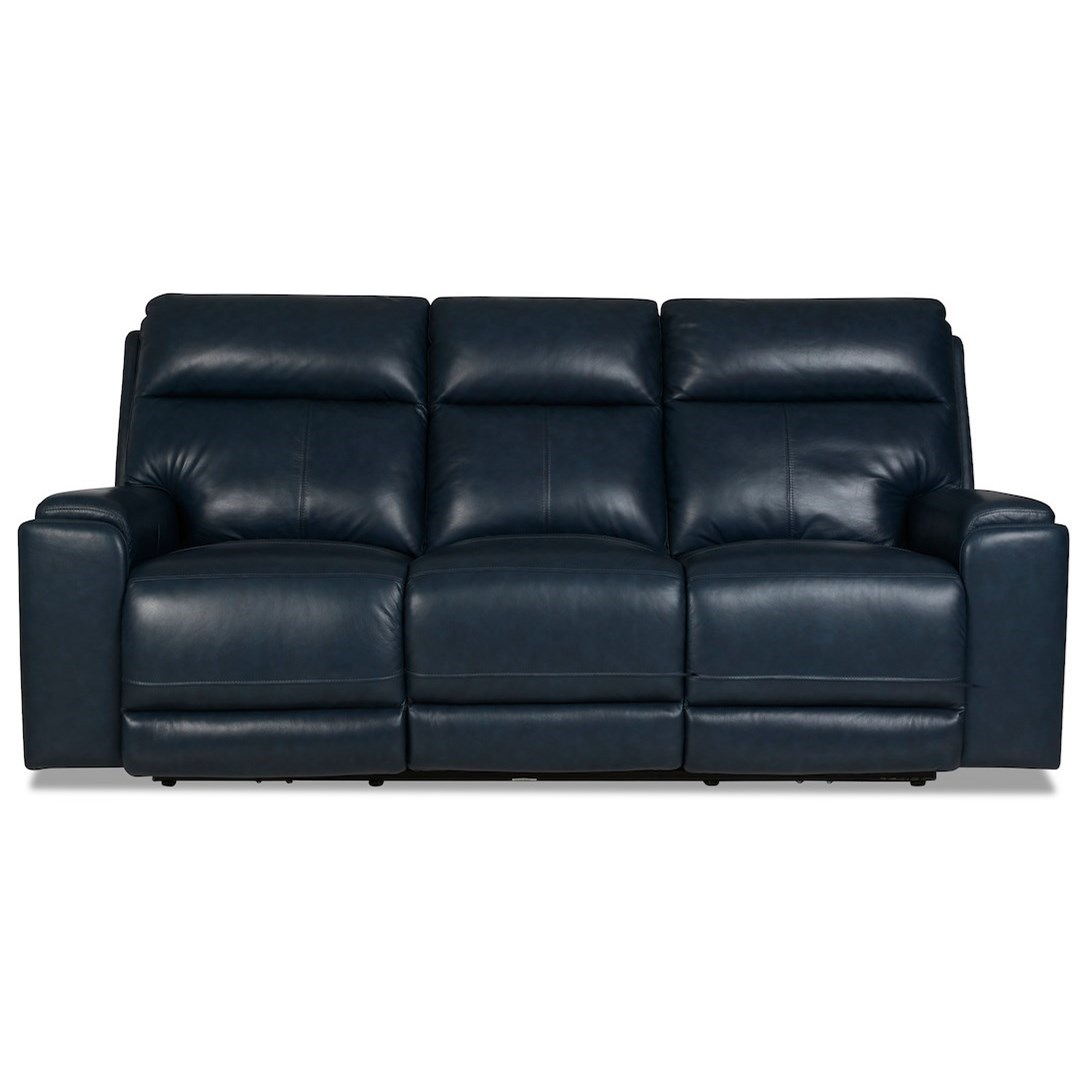 Santana Power Reclining Sofa w/ Pwr Headrests by Klaussner International at Northeast Factory Direct