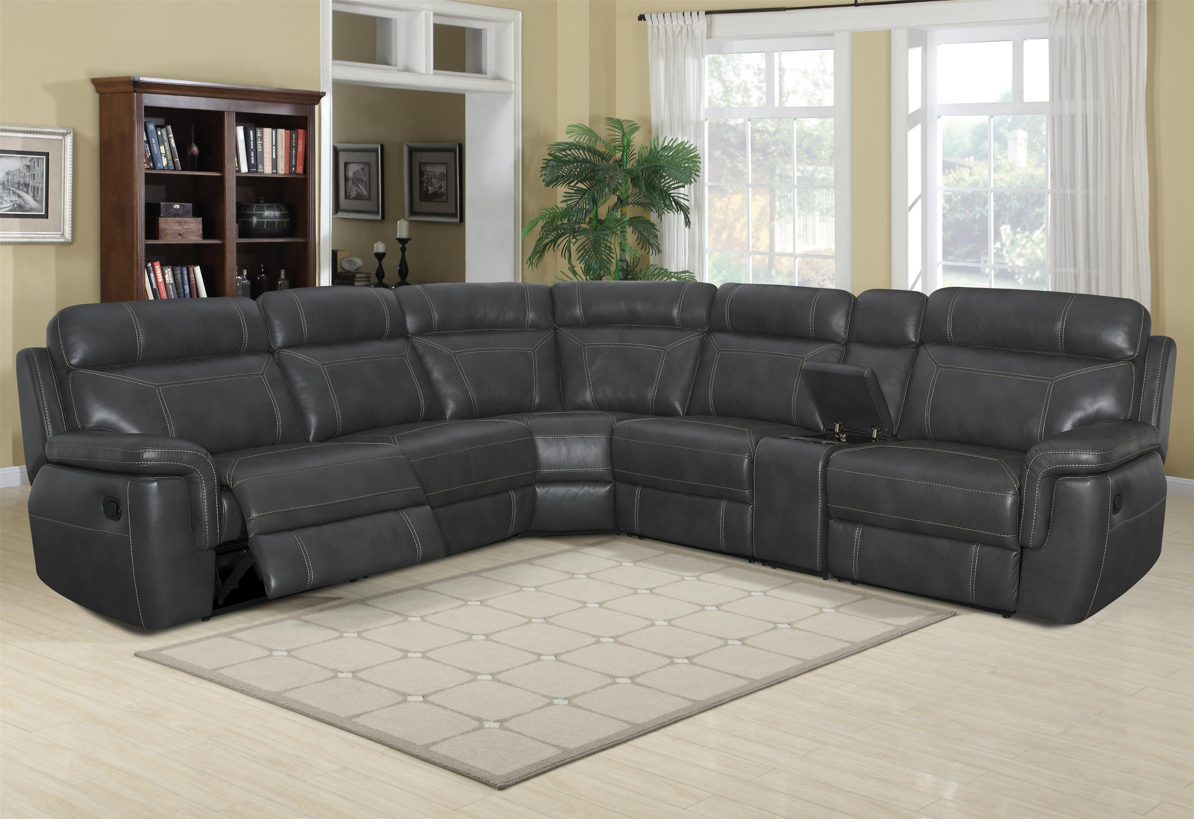 Silas Casual Reclining Sectional Sofa by Klaussner International at Northeast Factory Direct