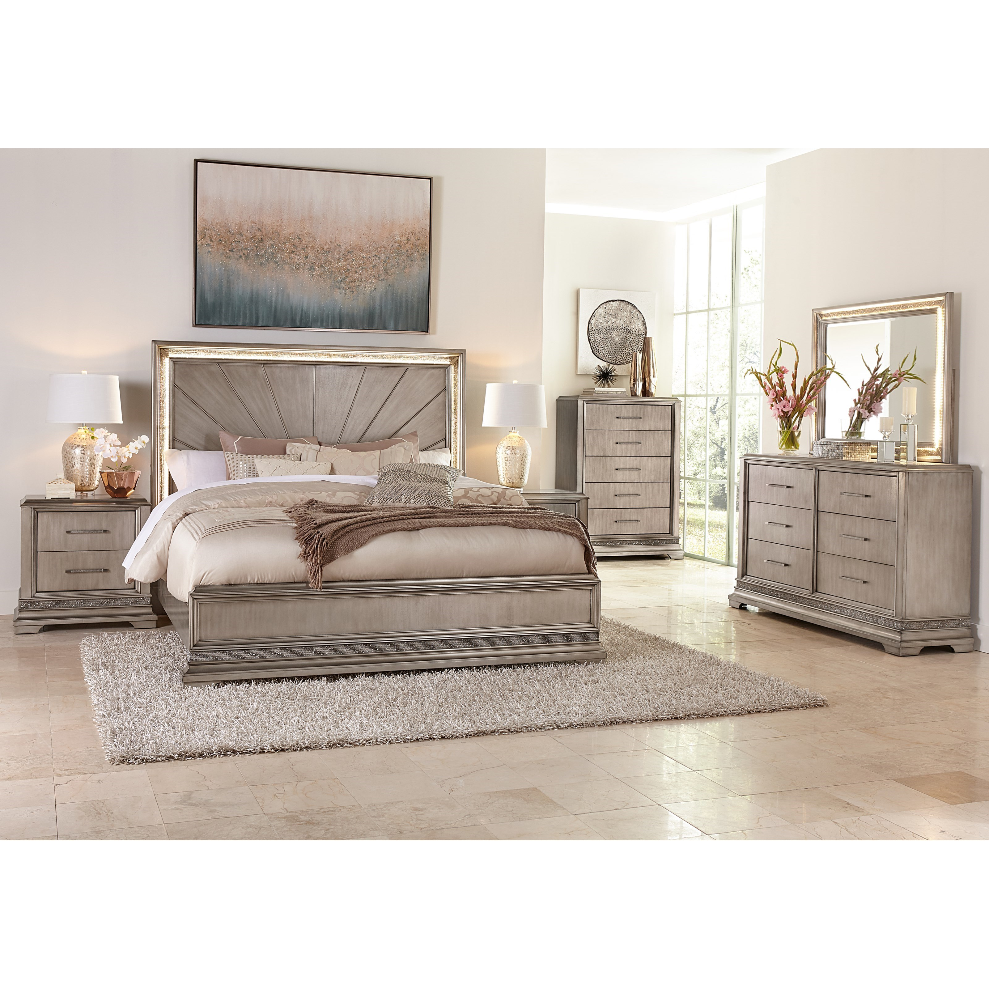 Sophia California King Bedroom Group by Klaussner International at Beck's Furniture