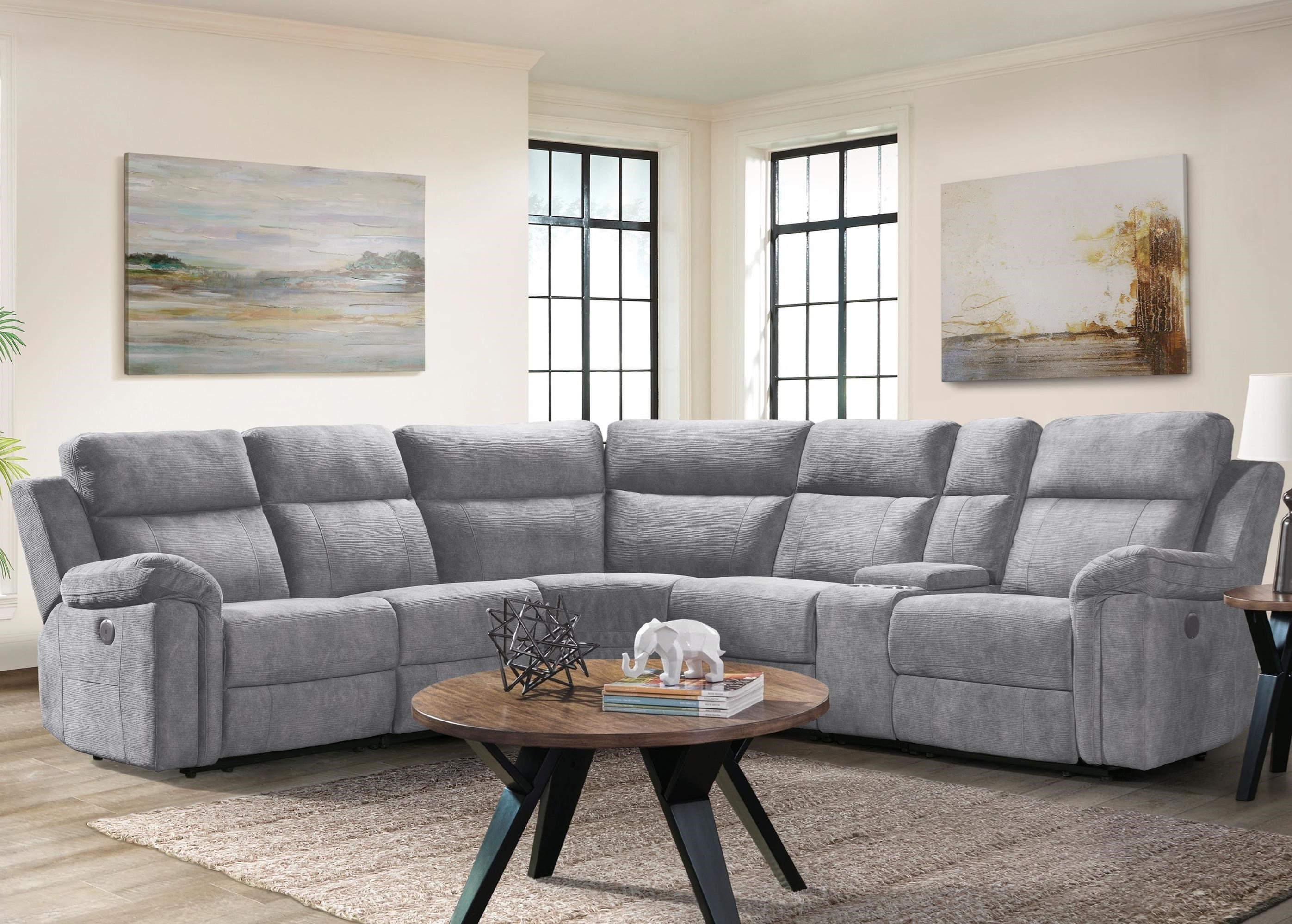 Thomas 6-Piece Power Reclining Sectional Sofa by Klaussner International at Beck's Furniture