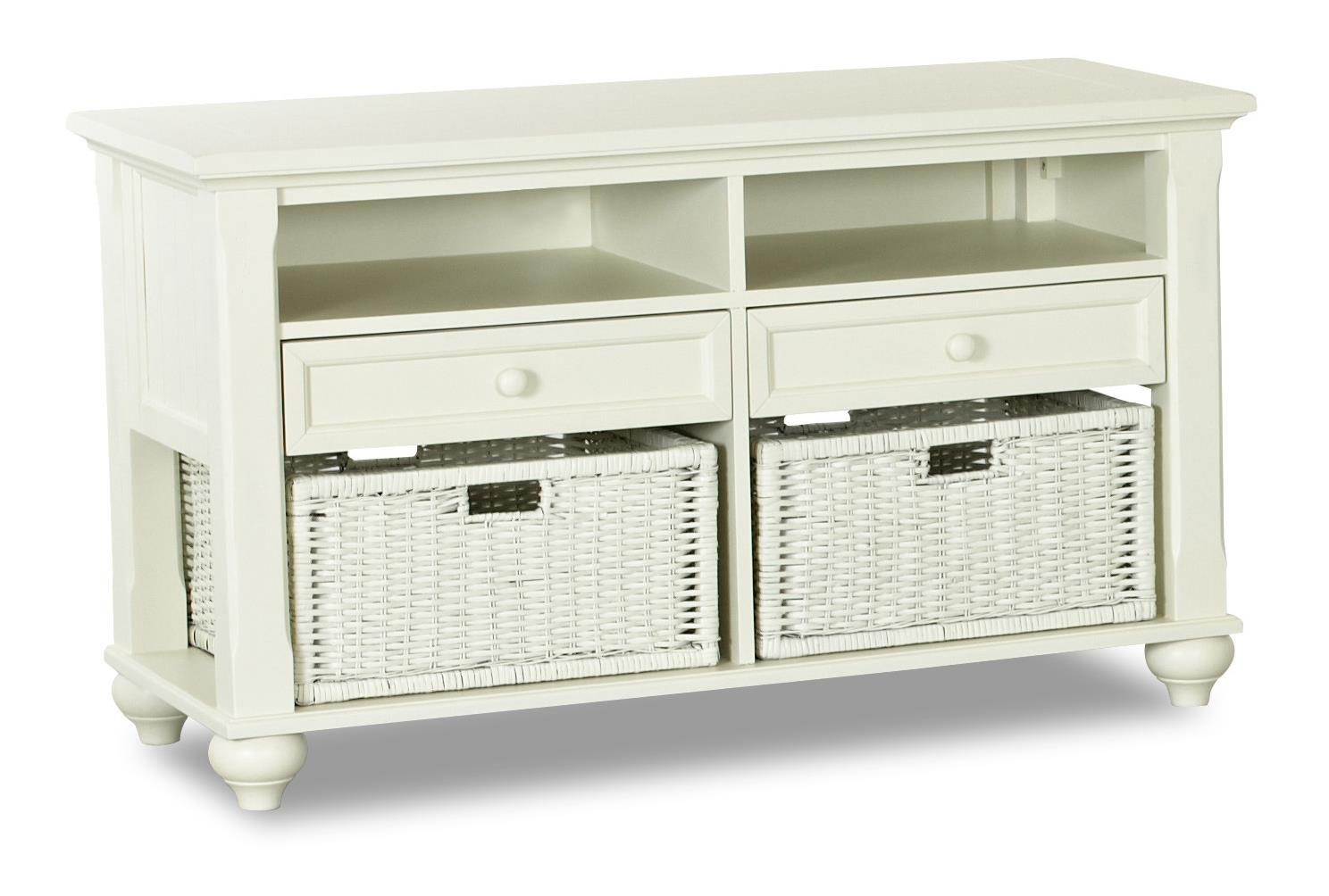Treasures White Sofa Table by Klaussner International at Northeast Factory Direct