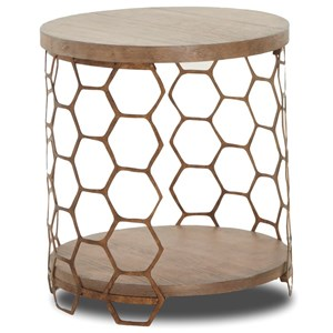 Beeing Brave Honeycomb End Table