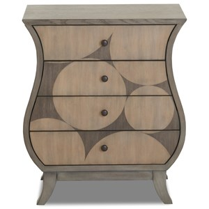 Form & Beauty Two Tone End Table with Four Drawers