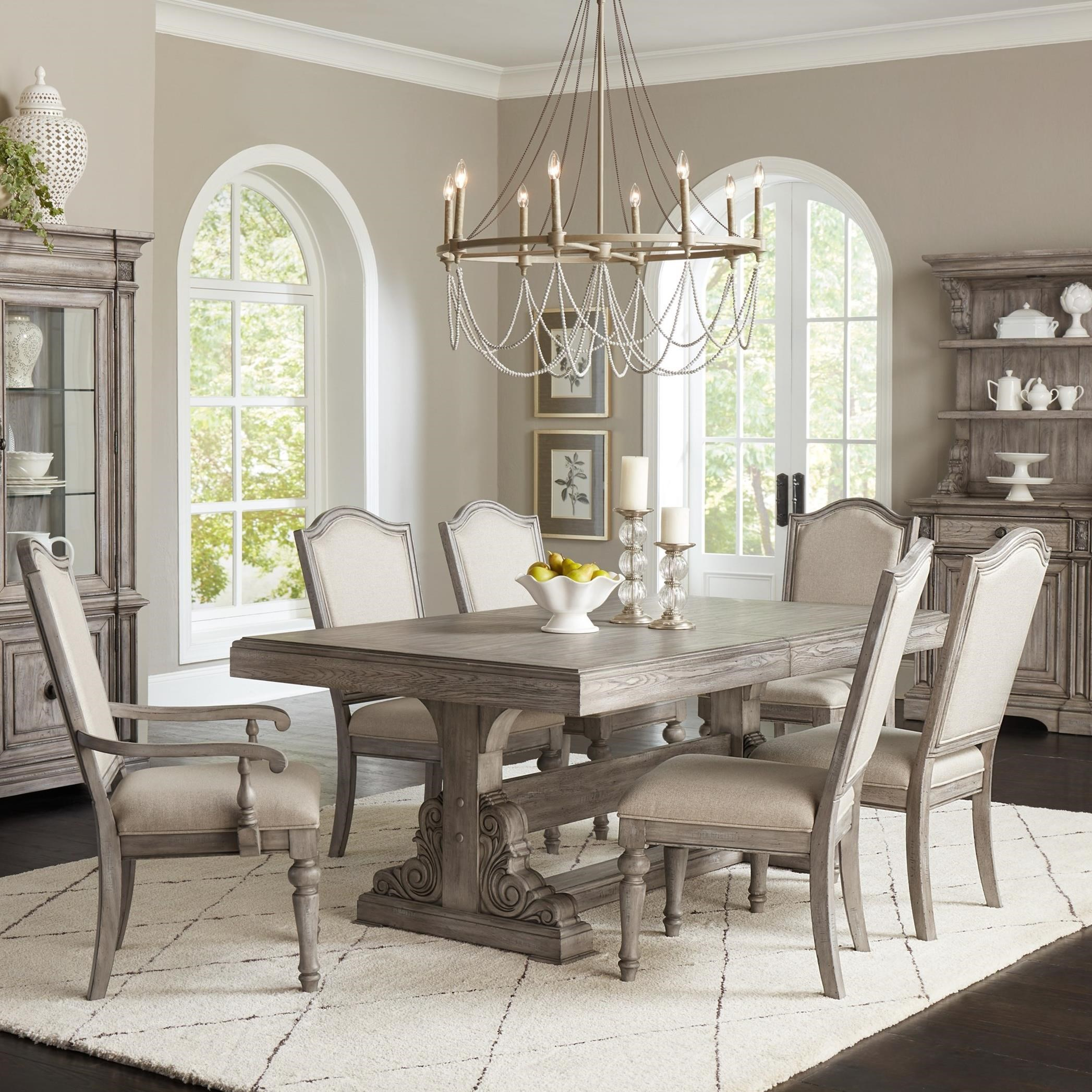Windmere 7-Piece Table and Chair Set by Klaussner International at Northeast Factory Direct