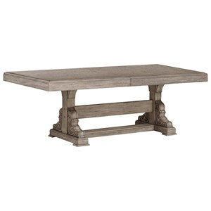 Relaxed Vintage Trestle Dining Room Table