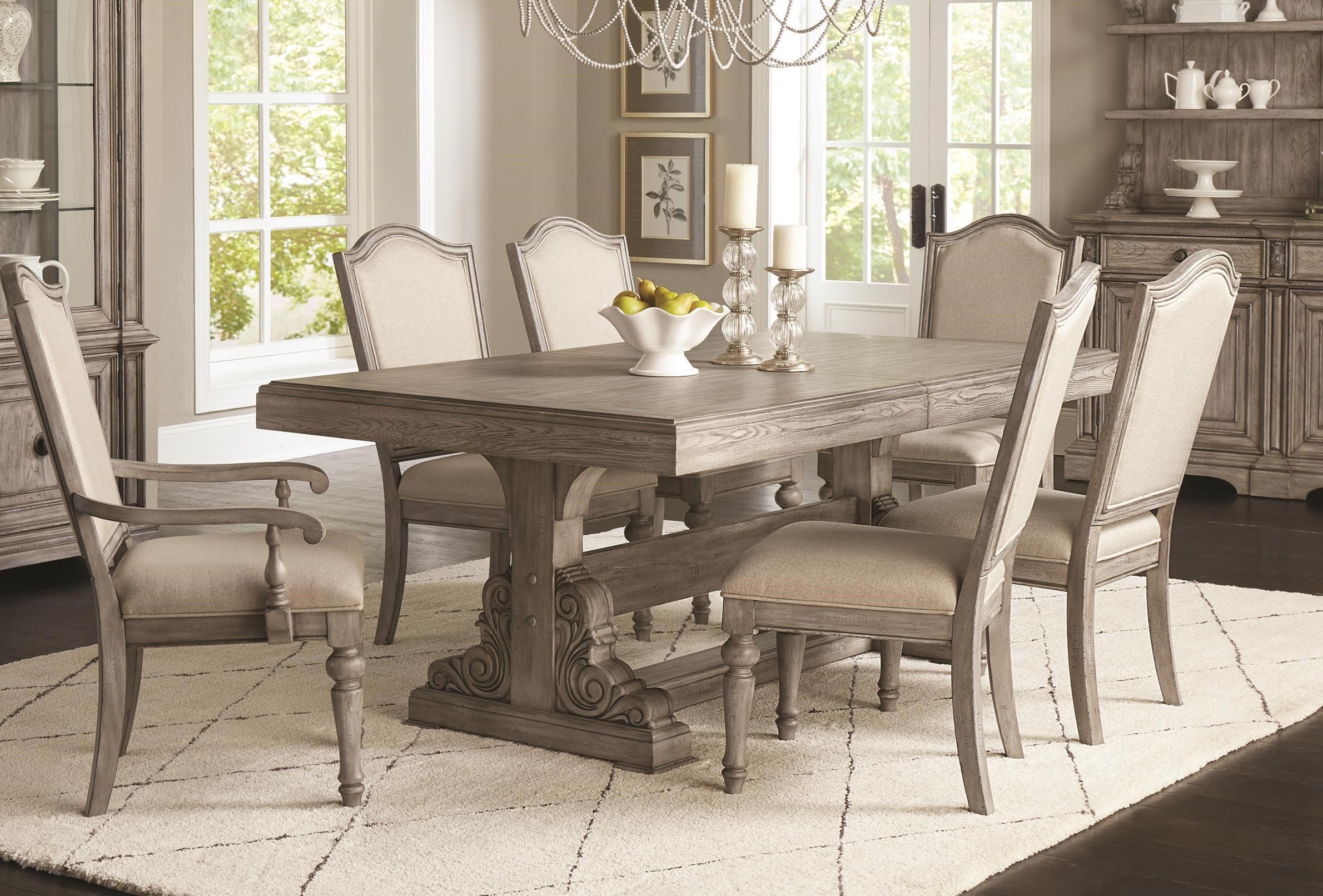Windmere 5 Piece Dining Set Includes Table And 4 Side by Klaussner International at Darvin Furniture