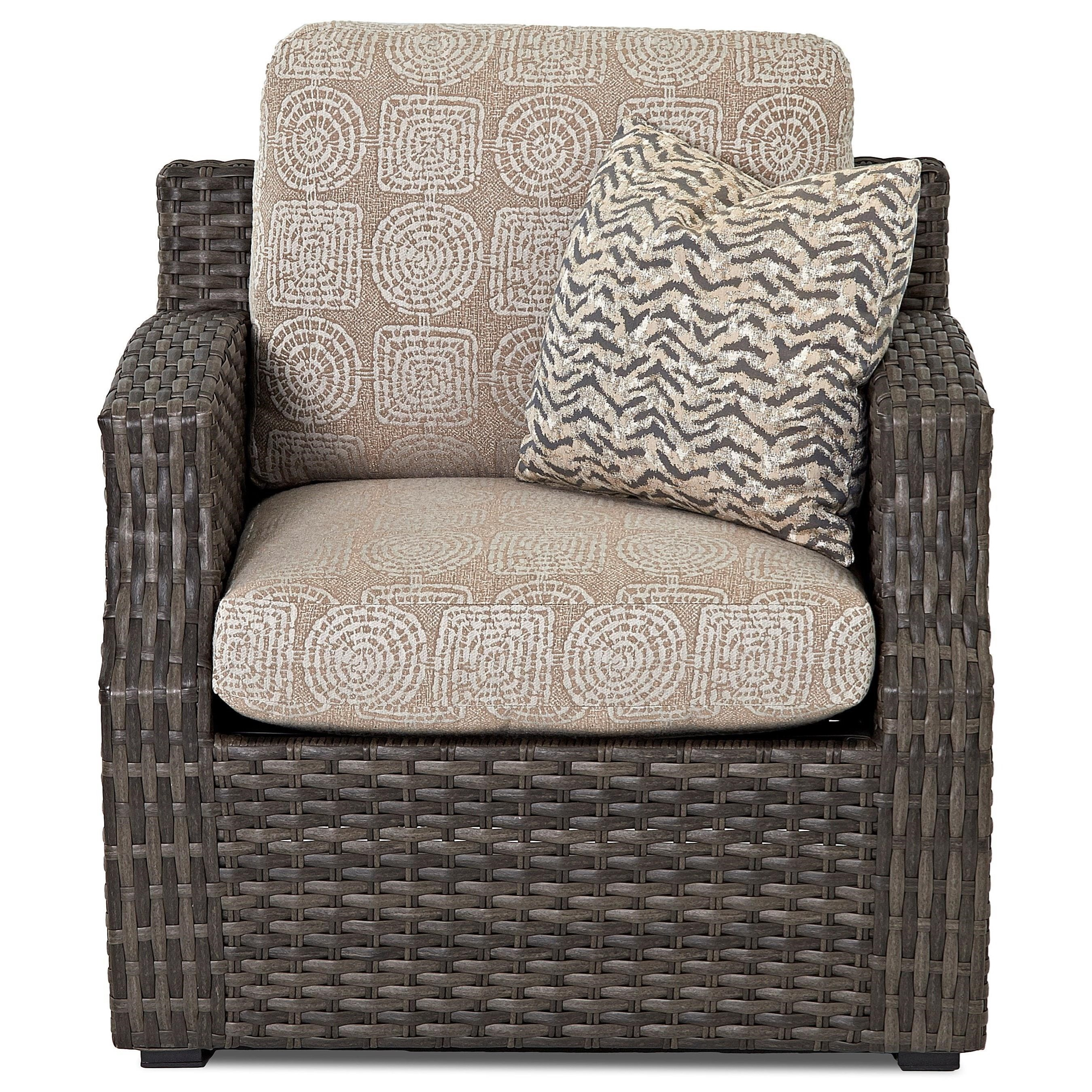 Cascade Chair w/ Drainable Cushion by Klaussner Outdoor at Nassau Furniture and Mattress