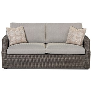 Outdoor Sofa with Drainable Cushions and Customizable Fabric