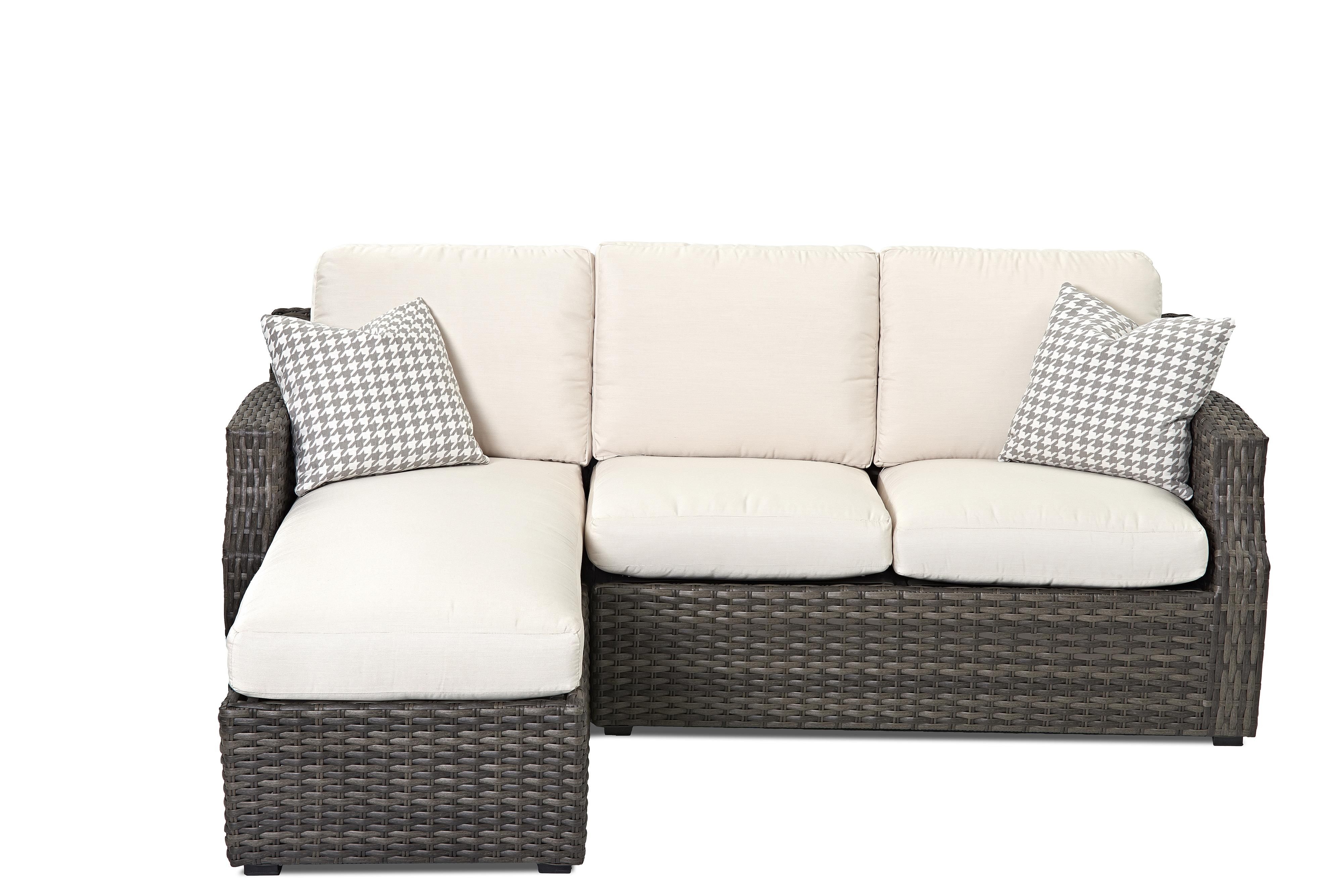Cascade Outdoor Sectional Sofa with Chaise by Klaussner Outdoor at Rooms for Less