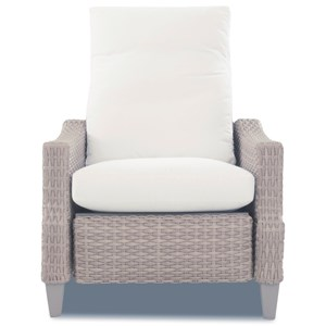 Casual Outdoor Push-Back Recliner with Reversible Cushion
