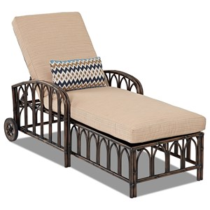 Outdoor Chaise with Reversible Cushions