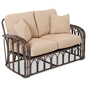 Outdoor Loveseat with Drainable Cushions