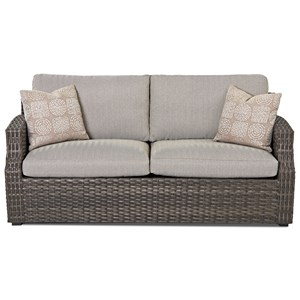 Outdoor Sofa with Reversible Cushion and Customizable Fabric