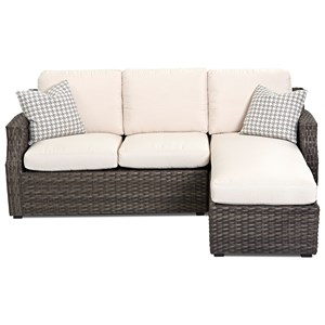 Outdoor Sectional Sofa with Chaise and Drainable Cushion