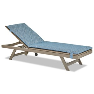 Fully Outdoor Power Reclining Chaise Lounge with Tie-On Cushion