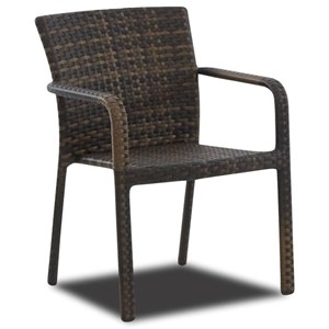 Transitional Outdoor Dining Arm Chair