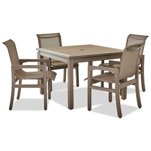 "Outdoor Dining Set with 4 Seats and 42"" Square Table"