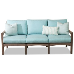 Outdoor Sofa with Reversible Cushions