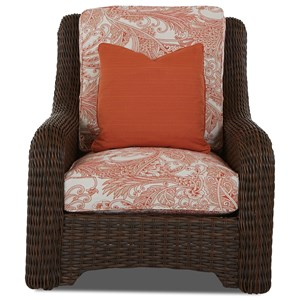 Outdoor Wicker Chair with Reversible Cushions