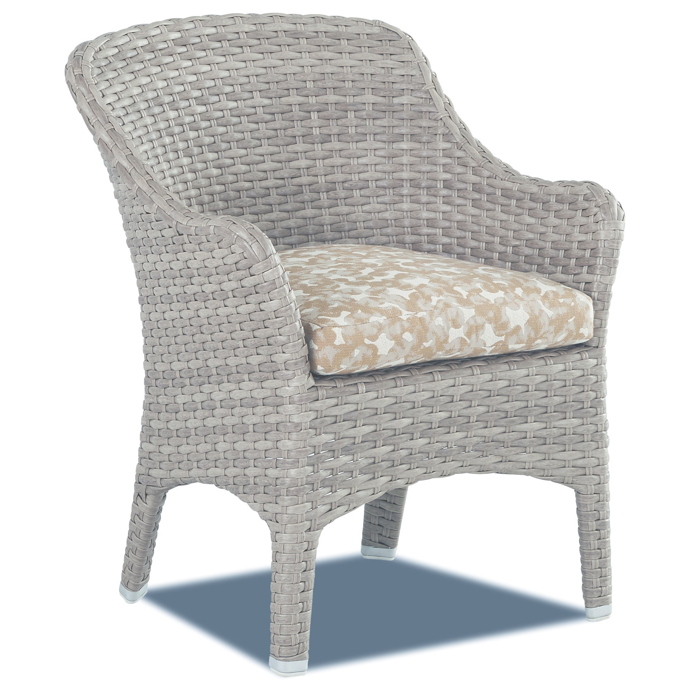Mesa 2 Pack Dining Chair with Drainable Cushion by Klaussner Outdoor at Nassau Furniture and Mattress