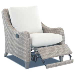 Outdoor High Leg Recliner with Drainable Cushion