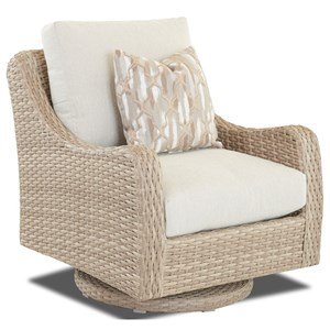 Outdoor Swivel Rocker with Reversible Cushion