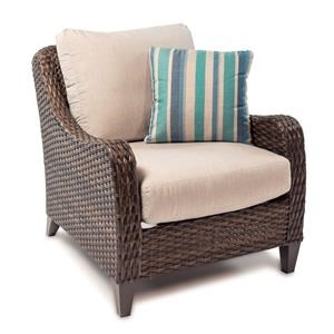 Outdoor Lounge Chair with Drainable Cushion