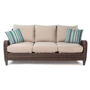 Outdoor Sofa with Drainable Cushion