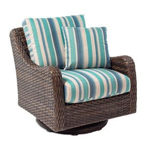 Outdoor Swivel Rocker with Drainable Cushion