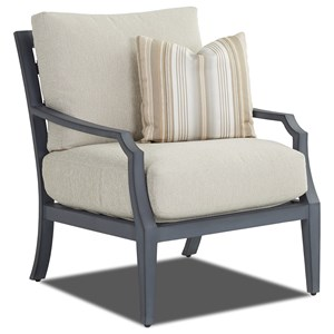Outdoor Chair with Reversible Cushions