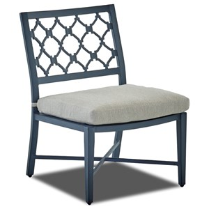 Outdoor Dining Side Chair with Drainable Cushion
