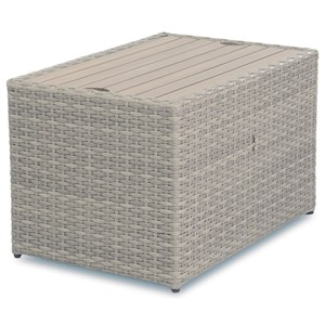 Outdoor Rectangular Cocktail Table with Storage